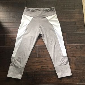 Onzie grey and white workout pants